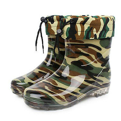 2016 Mens High Top Rain Boots With Flock Anti-Skid Rubber Platform Boots XMX573