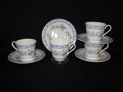Royal Doulton Bone China H 5030 Coniston Cups & Saucers - Four Sets