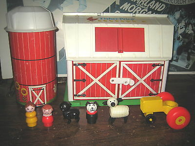 "1 Rare Htf Vintage Collectable Fisher-Price Barn With Silo Etc.., "" Sold As Is """