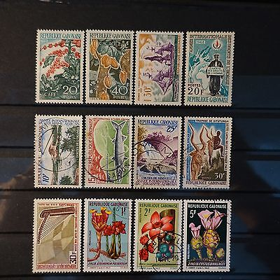 Gabon Between The No.231/247 - Neuf Mnh / Obliterated
