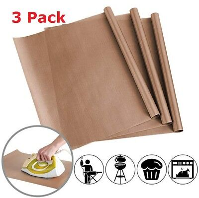 "3 Pack PTFE 16x24"" Teflon Sheet Mat Heat Press Craft Transfer Sheet Non Stick"