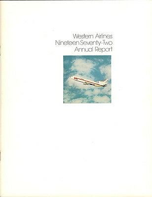 Western Airlines annual report 1972 [3052]