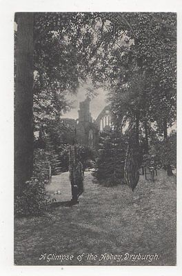 A Glimpse Of The Abbey Dryburgh Vintage Postcard 0940
