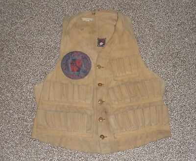 Vintage 1930's Red Head Brand Canvas Duck Hunting Vest (Strasburg, PA Patch)
