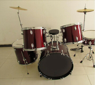 New Wine Red Birch Top Grade Band Performance Musical Instruments Drum Set .*
