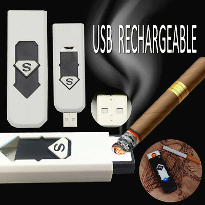 Cigarette Plasma USB Mini Rechargeable Lighter Metal Electric Windproof Hot Sale