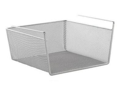 Design Ideas Silver Mesh Large Undershelf Basket Rack