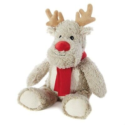 Intelex Cozy Plush Reindeer Fully Microwavable Heatable Christmas Bed Time Toy