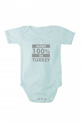 Baby bodysuit with shining silver print Made in Turkey