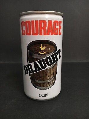 Beer Can Courage Draght Rare Shop Display Dummy Aluminium Can Of Centenary Test