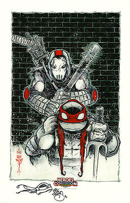 HC EXC Eric Talbot SIGNED Teenage Mutant Ninja Turtles Art Print Original Sketch