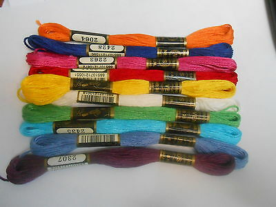 Venus threads colours of the rainbow Pack of 10