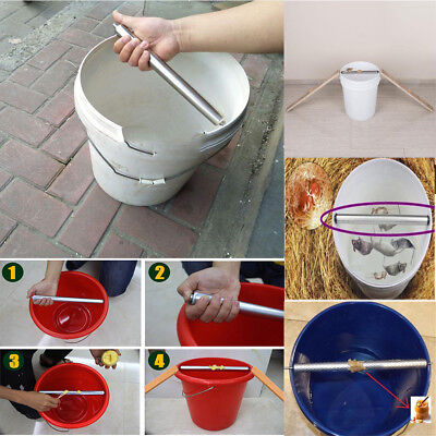 Log Roll Into Bucket Mice Trap Rolling Mouse Rat Stick Trap Rodent Rotatable EB