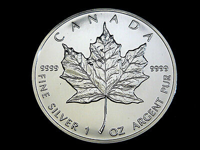 Kanada, 5 Dollars, 1992, Maple Leaf, 1 Oz. Silber/9999, orig.! St.!