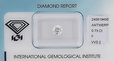 Diamant 0,73ct F VVS 2