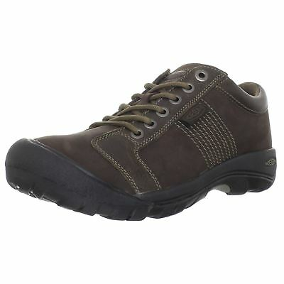Keen Austin Chocolate Brown Mens Nubuck Walking Lace-up Shoes