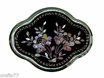 Exquisite Trinket Jewelry Box Case,Hand-Inlaid Conch Shell Flowers Pattern
