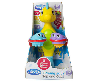 Playgro Flowing Bath Tap & Cups - Multi