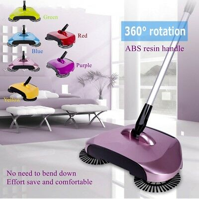 Automatic Swivel Hand Push Sweeper Broom Household Cleaning Without Electricity
