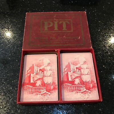 Antique Pit Card Game By Parker Brothers 1919 Vintage Edition Playing Cards
