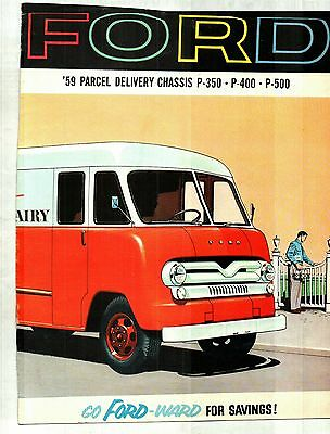 1959 Ford Parcel Delivery Trucks Deluxe Color Sales Catalog