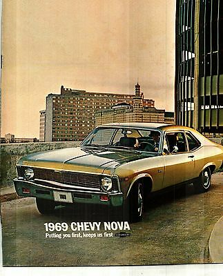 1969 Chevrolet Nova Deluxe Color Sales Catalog