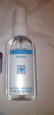 5 x 75ml  Evans Vanodine Handsan Alcohol Hand Sanitiser Pump Action