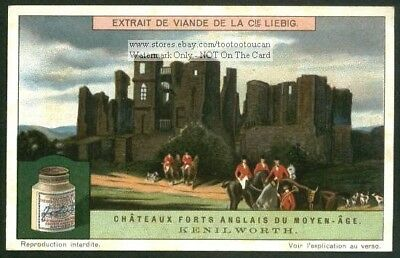 Kenilworth Castle Britain England History 1920s Trade Ad Card
