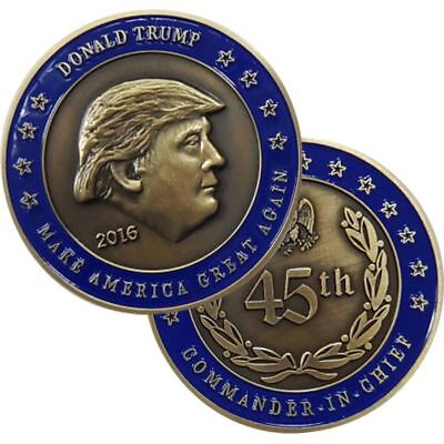 "45Th President Donald Trump  Make America Great Again 1.75"" Challenge Coin"