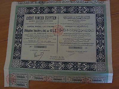 Credit Foncier Egyptien 1951 El Cairo