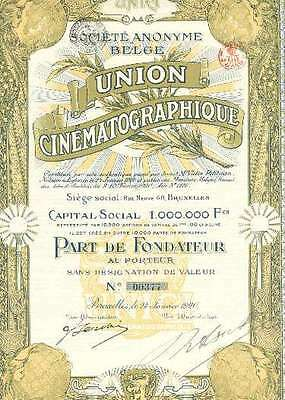 Union Cinematographique Belge 1920