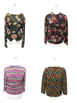 18 X Women's Tops Mix High Neck Polo Scoop Neck Wholesale Clothing Joblot # 5