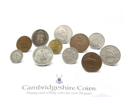 British Pre Decimal Coin Collection Crown To Farthing Silver Three Pence Gift