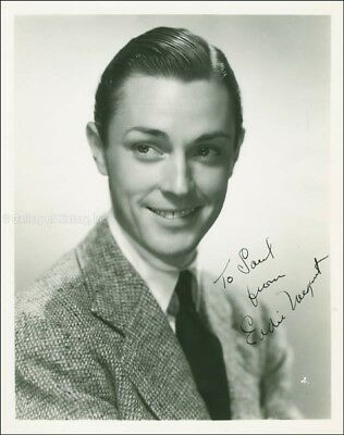"Edward J. ""Eddie"" Nugent - Inscribed Photograph Signed Circa 1937"