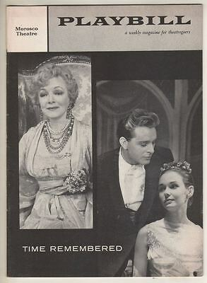 "Richard Burton & Helen Hayes  ""Time Remembered""   Playbill  1958   Broadway"