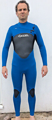 Xcel 5mm Axis Wetsuit XZip2 Chest Zip Nautical Blue NEW 5/4mm Winter Steamer