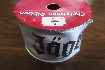 New Old Stock Jagermeister 9' Long Christmas Ribbon Gift Wrap Display Man Cave