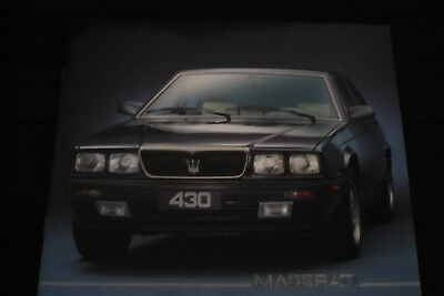Maserati 430 ( Catalogue Commercial France Annee 1990 ? ).