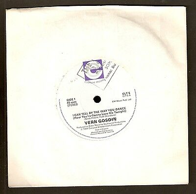 """Vern Gosdin - I can tell by the way you dance  7"""" Vinyl 1984 A1/B1"""