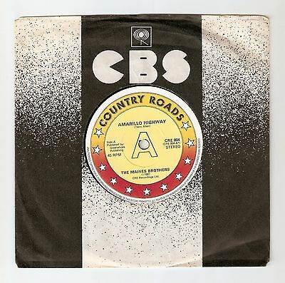 """The Maines Brothers - Amarillo Highway Bw That's alright mama  7"""" 1981 A1/B1"""
