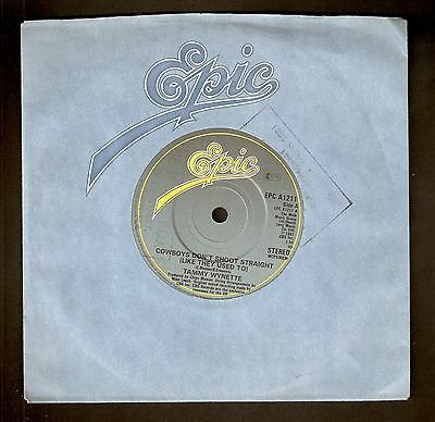 """Tammy Wynette - Cowboys don't shoot straight (like they used to) 7""""  1981 A1/B1"""