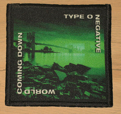 "TYPE O NEGATIVE ""WORLD COMING DOWN"" silk screen PATCH"