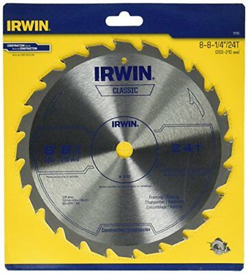 IRWIN Tools Classic Series Carbide Table / Miter Circular Saw Blade, 8 1/4-inch,
