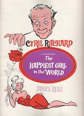 """Cyril Ritchard  """"The Happiest Girl in the World""""  Souvenir Program  1961  FLOP"""
