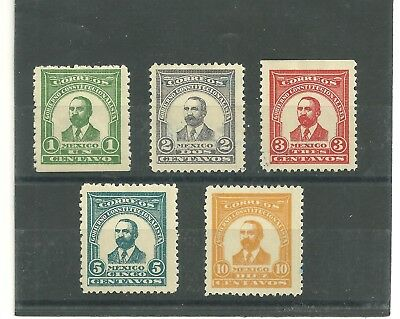 Mexico 1914 Madero Set Unused