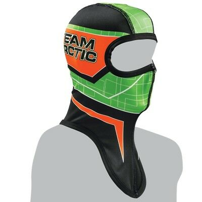 Arctic Cat Adult Sno Pro Balaclava - Black Green and Orange - 5262-57_