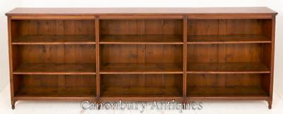 Victorian Walnut Open Front Bookcase