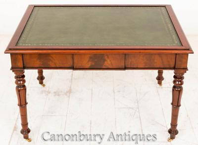 Victorian Mahogany Partners Desk Writing Table 1870