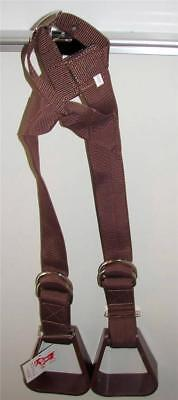 Buddy stirrups FOR Kids Western Trail Pleasure Saddle Showman Brown Showman