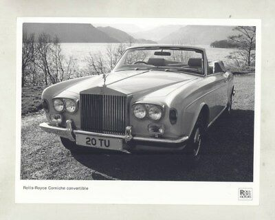 1966 ? Rolls Royce Corniche Convertible ORIGINAL Factory Photograph wy5961